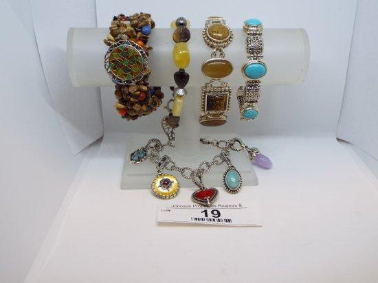 Group of Five Bracelets