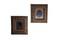 Pair of tin type photos in gold gild walnut frames