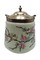 Hand painted floral biscuit jar