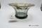 Glass bowl with gilded Greco-Roman lip design