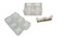 6 salt cellars, condiment dish, and knife rest