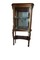 Gold and floral painted curio cabinet