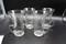 Set of 4 etched glass Irish coffee mugs