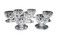Group of 7 etched glass salt cellars
