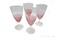 Set of 4 crackle glass goblets