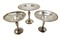 Group of 3 silver compote candy dishes