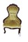 Victorian rose carved lady's parlor chair