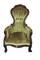 Victorian rose carved gentleman's parlor chair