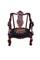 Mahogany Rococo revival armchair