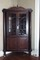 1890s mahogany columned corner cabinet