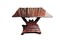 American empire mahogany folding game/tea table