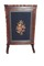Victorian inlay walnut fire screen