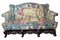 1800's tapestry settee