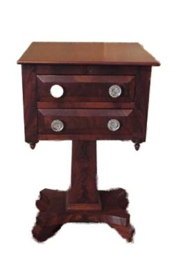 Two drawer wood table