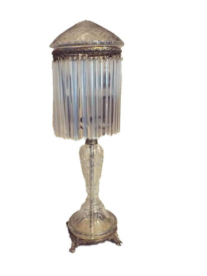 Victorian crystal lamp (electrified)