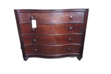 Mahogany marble top 4 drawer dresser base