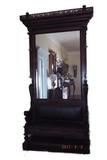Circa 1880 walnut hall seat
