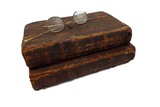 Group of 2-1769 books & pair of antique spectacles