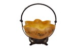 Satin glass bride's basket