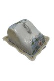 Cheese keeper w/ sloped dome & under plate