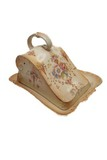 Cheese keeper w/ sloped dome & marked crown
