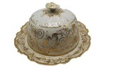 Nippon gold gilded porcelain cheese keeper