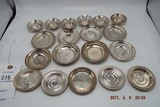 Group of 18 sterling silver nuts/candy dishes