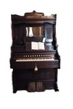 Restored Victorian walnut pump organ circa 1870