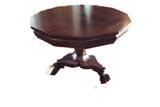 Empire claw foot octagon mahogany center table