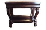 Pair of mahogany empire petticoat tables
