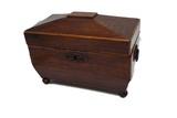 19th century small mahogany tea caddy