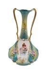 Hand painted portrait German vase