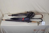 3 vintage umbrellas (1 in leather case)