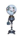 Brass & nickel banquet globe lamp w/ marble base