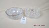 Two cut glass bowls
