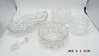 Group of 4 glass serving pieces & wine stop