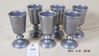 Six pewter Carson goblets