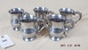 K. Bright five pewter cups