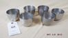 Six pewter Jefferson cups by Stieff