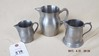 Group of 3 small pewter pitchers