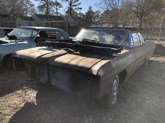 1965  Pontiac  Catalina Convertible  Color:  Rust