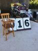 "Doll high chair, approx. 5"" x 14"""