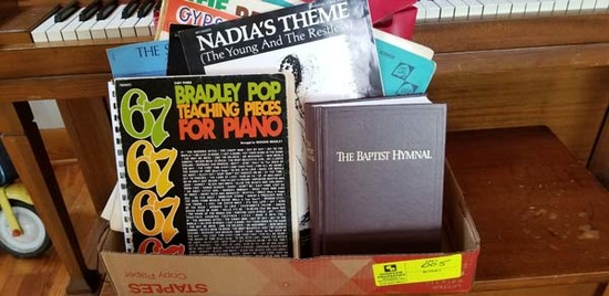 Large Group of Sheet Music, Music Books, and Baptist Hymnal