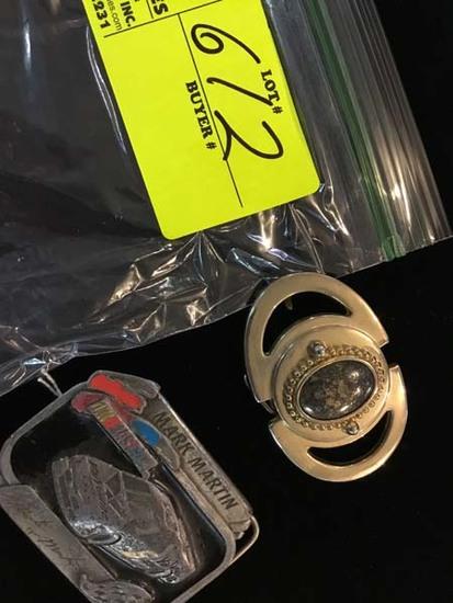 NASCAR Mark Martin Belt Buckle and Genuine Stone Belt Buckle