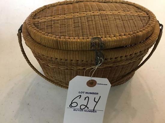 Vintage 1960's Handmade Nantucket Style Basket Purse