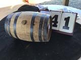 Wooden Keg w/ Plug, Stamped Scc5, Approx. 10