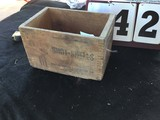 Wooden Box w/ Dove Tail Corners, Stamped United States Cartridge Co., U.S. Shot Shells
