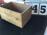 Wooden Box, Stamped DuPont Explosives High Velocity Gelatin, Approx. 17 3/4