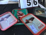 (4) Metal Coca-Cola Trays