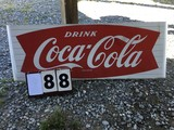 Drink Coca-Cola Metal Sign, Approx. 2' x 67